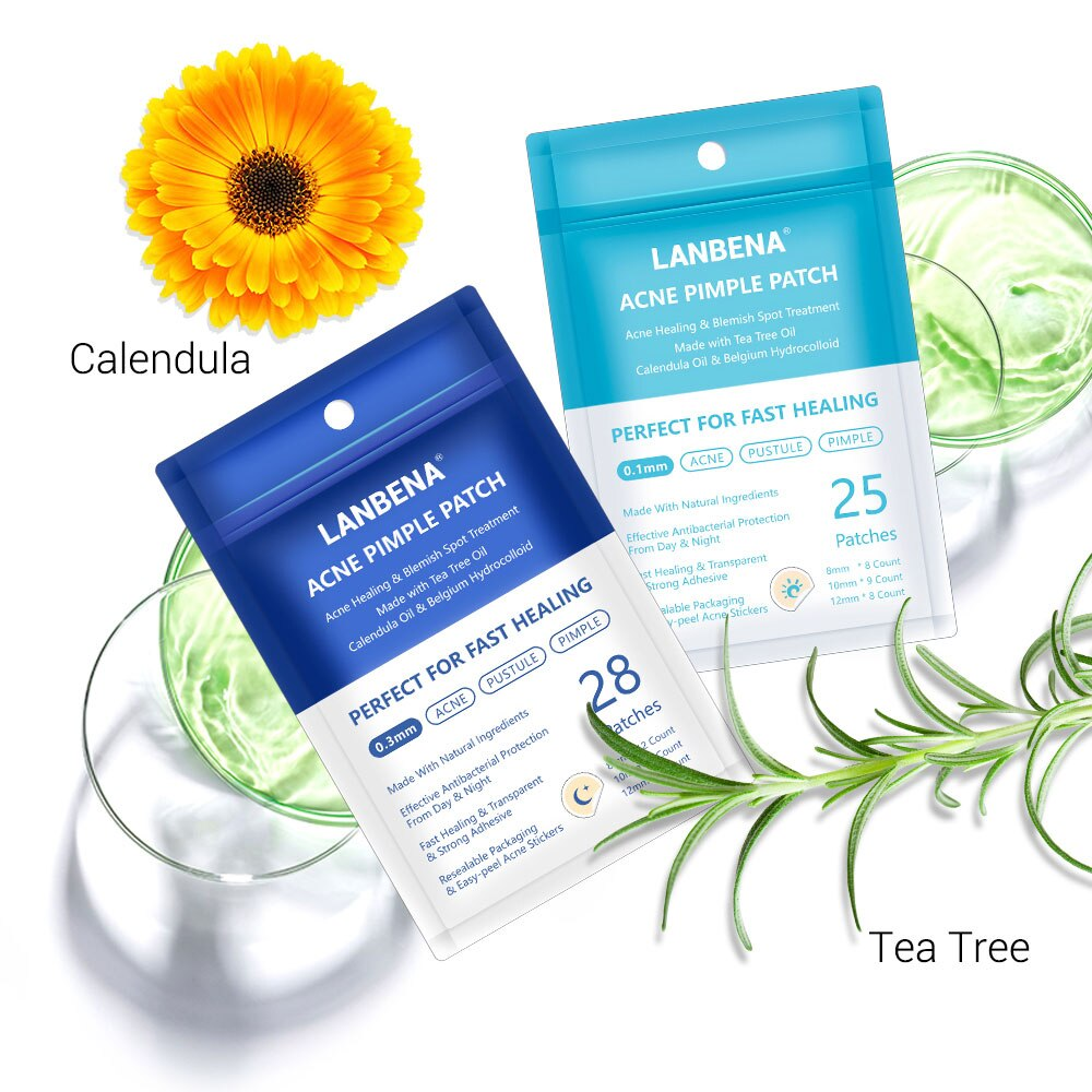 LANBENA Day&Night Acne Removal Pimple Patch Plant Extract Invisible Stickers Face Spot Scar Care Tre