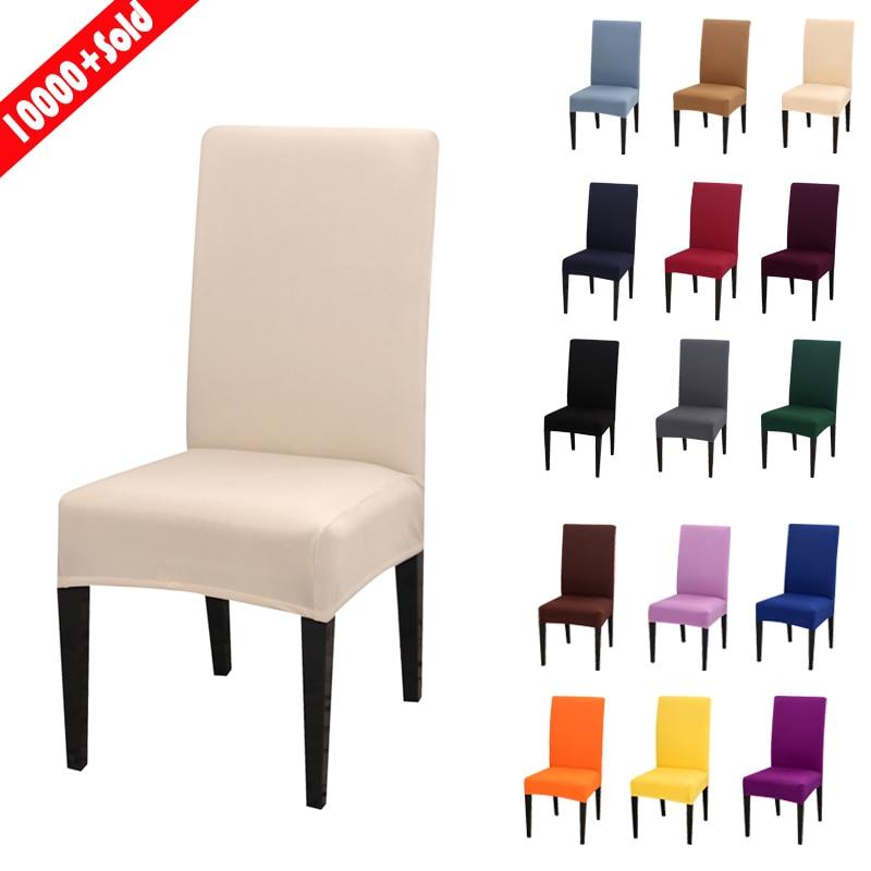 1/2/4 pçs cor sólida moderno simples cadeira capa elastano estiramento elástico capas de cadeira capa de assento para jantar hotel banquete de casamento