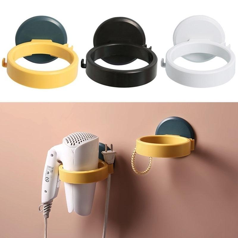 Фото - Полка для ванной комнаты из АБС-пластика, настенный держатель для фен, органайзер для ванной комнаты, подставка для волос электрическая самоклеящаяся подставка для ванной комнаты
