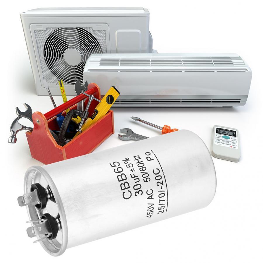 CBB65 30UF 450V motor de arranque con Capacitor termopolar condensador electrolítico para compresor
