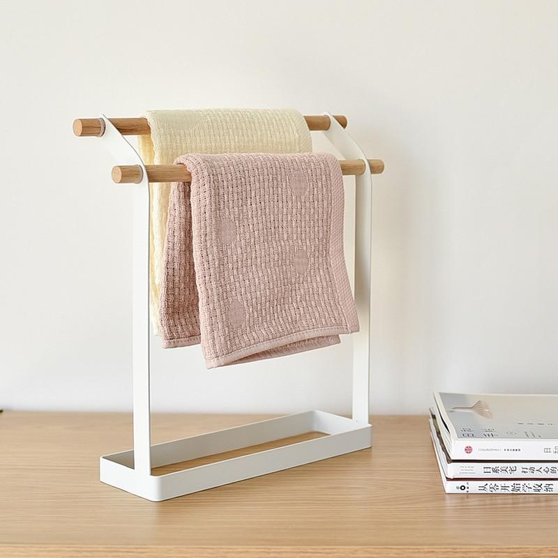 الحمام قائما بذاته منشفة تخزين الرف ، لتخزين مناشف المطبخ والمناشف الحمام الشمال نمط الأبيض