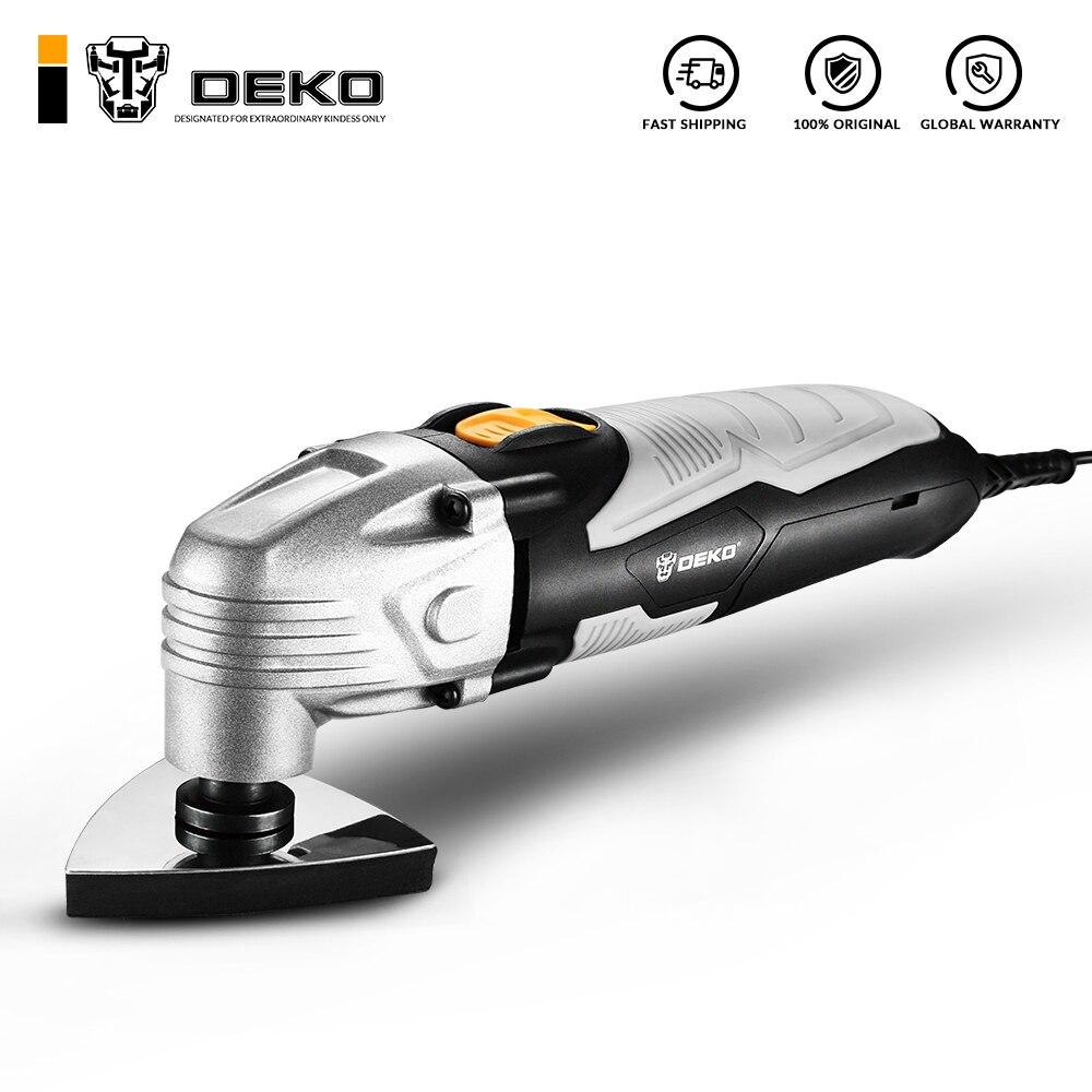 Nueva sierra eléctrica oscilante DEKO 220V/50Hz AC DKOM40LD1 de velocidad Variable herramienta oscilante multifunción con accesorios