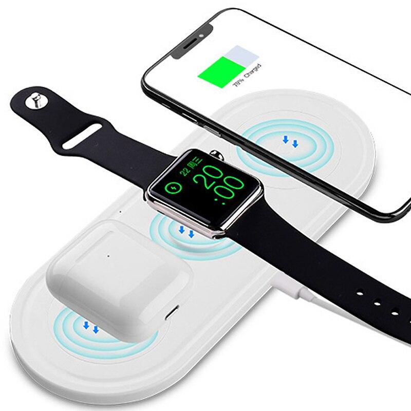 Cargador inalámbrico de carga rápida 3in1 cargador inalámbrico multifunción para teléfono inteligente iphone Watch auriculares 5W 7,5 W 10W