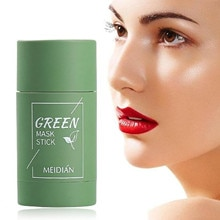Green Tea Purifying Stick Mask Oil Control Anti-Acne Eggplant Solid Fine