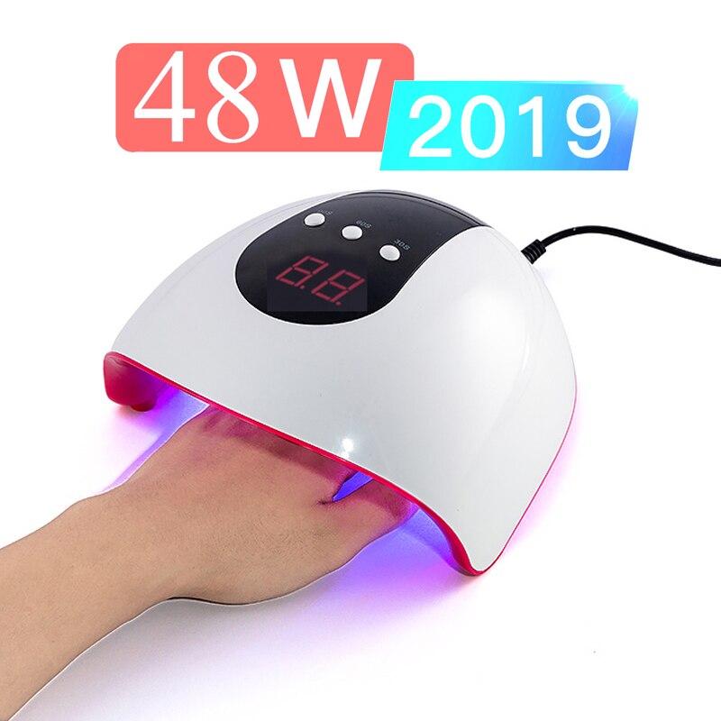 48W Nagel Trockner Maschine UV LED Lampe Tragbare Kabel Heimgebrauch Nagel UV Gel Lack Trockner 24 LEDS Lampe nail art niedrigen preis förderung