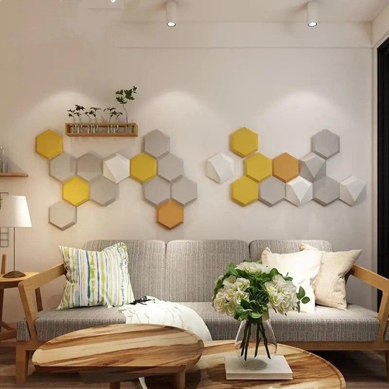 Настенные 3D наклейки на кровать, изголовье кровати, декор для спальни, эстетические татами для детской комнаты, самоклеящиеся стерео головн...