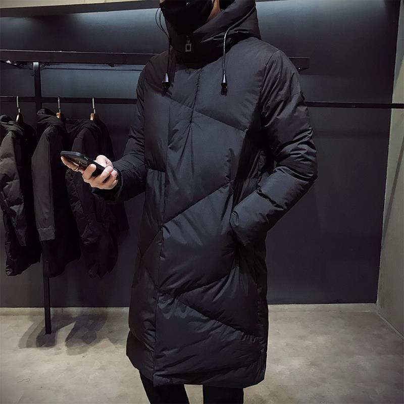 Модная зимняя куртка, Мужская брендовая одежда, новинка 2020, Мужская парка, толстые теплые длинные пальто, Мужская Высококачественная Черная...