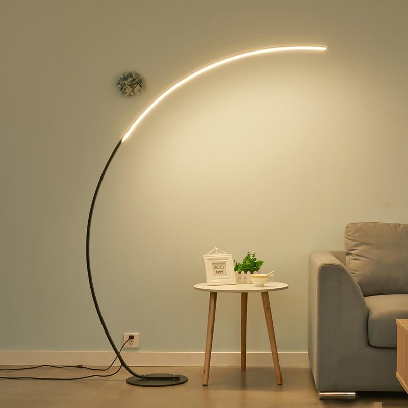 C Shade Floor Lamp Dimmable APP Control Colorful Black White Corner Floor Lamp Bedroom Decor Living Room Lamp Stand Lighting