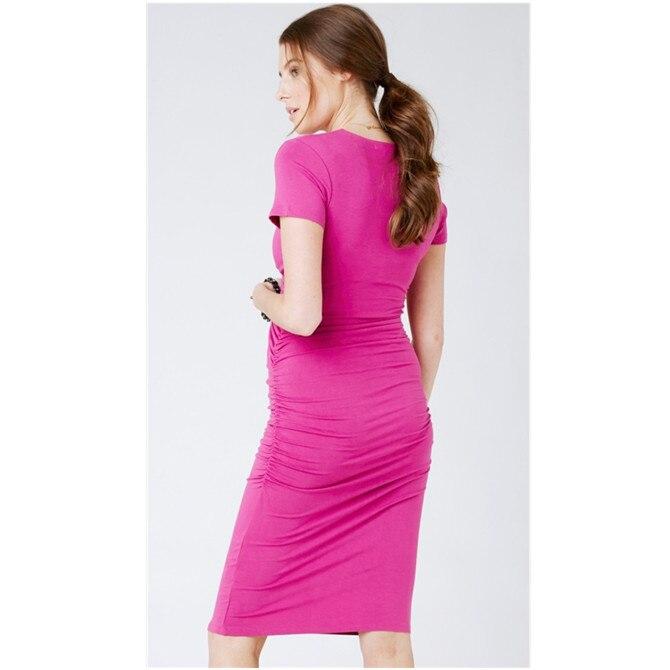 Pregnant Dress Plus Size Dress Striped Short Sleeve Round Neck Pregnancy Skirt Nursing Dress  Maternity Breastfeeding Dress Bc25 enlarge