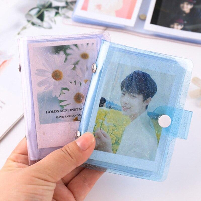 Yoofun желе Цвет Мини альбом для карты фото альбом для наклеек Мини Фотоальбом фото альбом для фотоаппарата Instax прозрачный лак держатель для к...