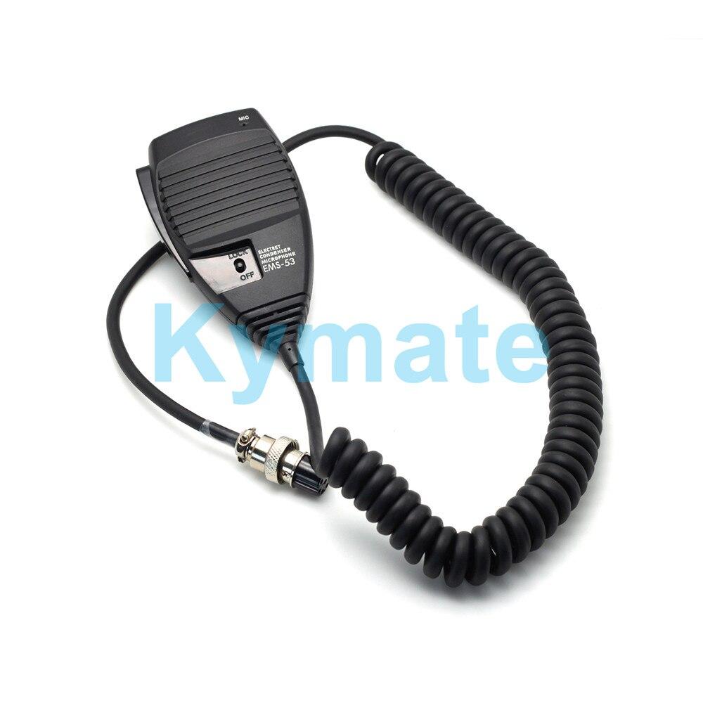 Kymate راديو ميكروفون EMS-53 8pin يده هيئة التصنيع العسكري ل Alinco DR620 DR635 DR430 DR435 DR135 DR-03 DR-06 DR145 DR235 راديو المحمول