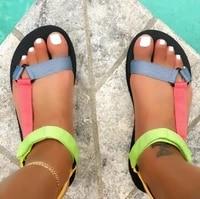 2021 women summer shoes sandals flat beach sandals velcro fashion outdoor casual sandals open toe sandalias mujer