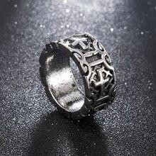 Croix religion chevaliers templiers anneau hommes alliage Biker gothique Rock Punk bijoux rue mode accessoires décoration