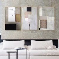 Affiche dart geometrique de Style abstrait  image murale de Fusion  pour salon  chambre a coucher et allee  peinture Nd  toile dart murale  decoration de maison