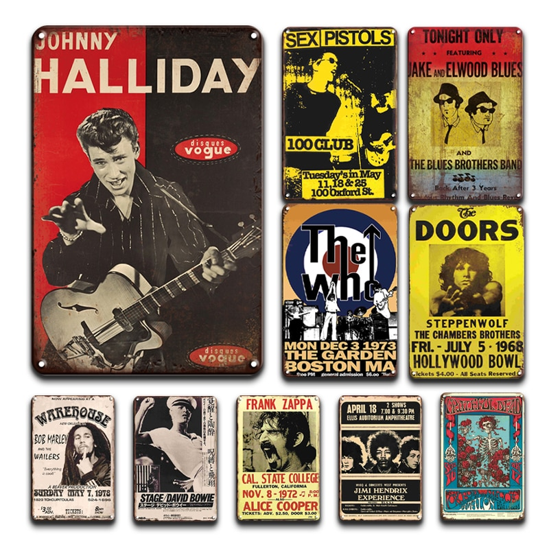 AliExpress - Music Star Metal Wall Painting Sign Vintage Harry Styles Tinplate Poster Personality Tiki Bar Home Decor Accessories Art Wall