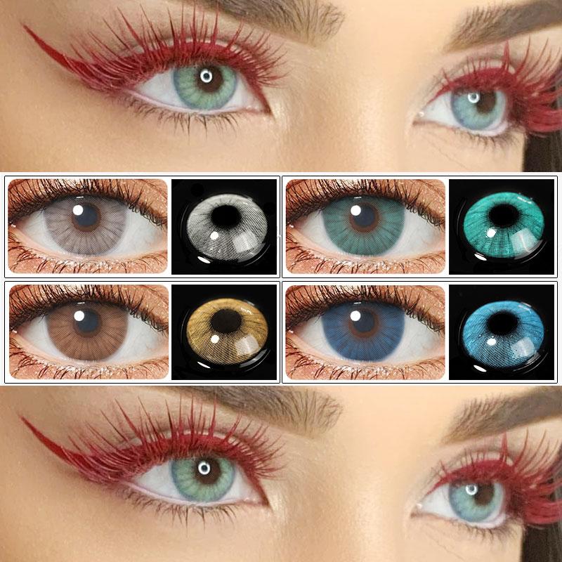 Контактные линзы HIDROCOR, контактные линзы с естественным цветом для глаз, контактные линзы для глаз, контактные линзы для глаз с естественным ...