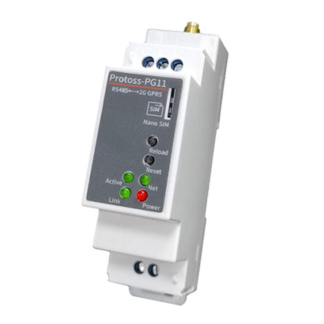 Protoss-PG11 RS485 إلى GPRS DTU 220 فولت خادم تسلسلي لاسلكي مع السكك الحديدية تصاعد دعم GSM/GPRS و CMCC أو CUCC سيم بطاقة