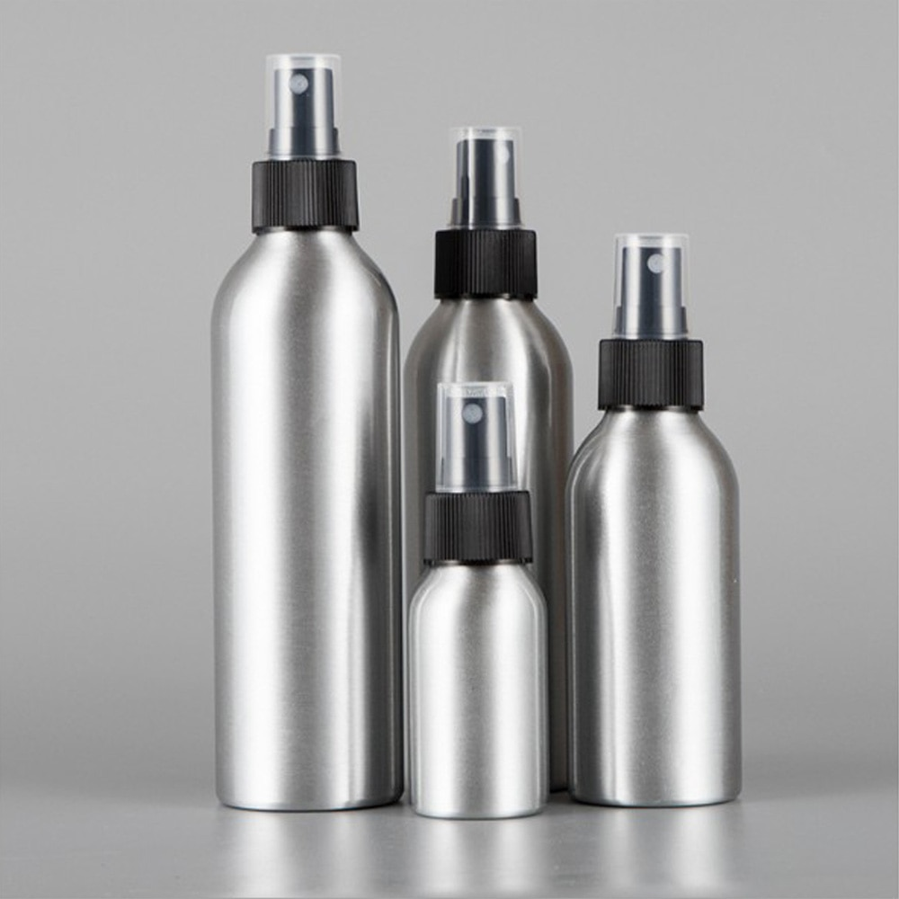 30/50/100ML Aluminum Spray Bottle Refillable Perfume Portable Empty Container Travel Cosmetic Sprayer Atomizer Silver 30ml 50ml 100ml 150ml portable travel black aluminum empty bottle perfume spray bottle cosmetic packaging container