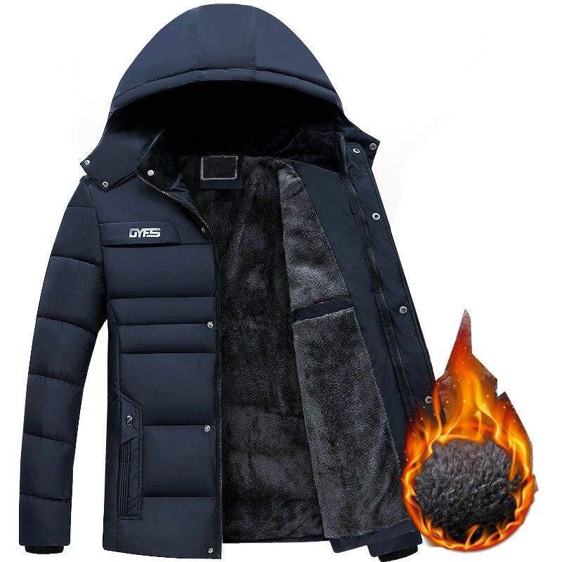 Утепленная Мужская парка, Мужская зимняя теплая утепленная мужская куртка из шерсти с хлопковой подкладкой, Мужская модная парка с капюшон...
