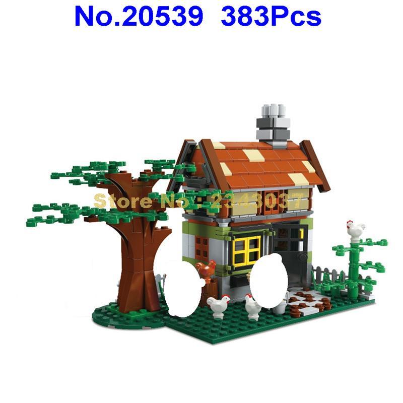 383 Uds creador de ciudades ciudad cabaña de bosque chalet construcción 4 juguete de bloques de construcción