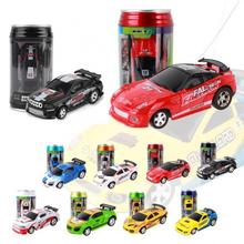 Coke Can Mini RC Car Radio Remote Control Micro Racing Car 4 Frequencies Toy For Kids Gifts RC Model