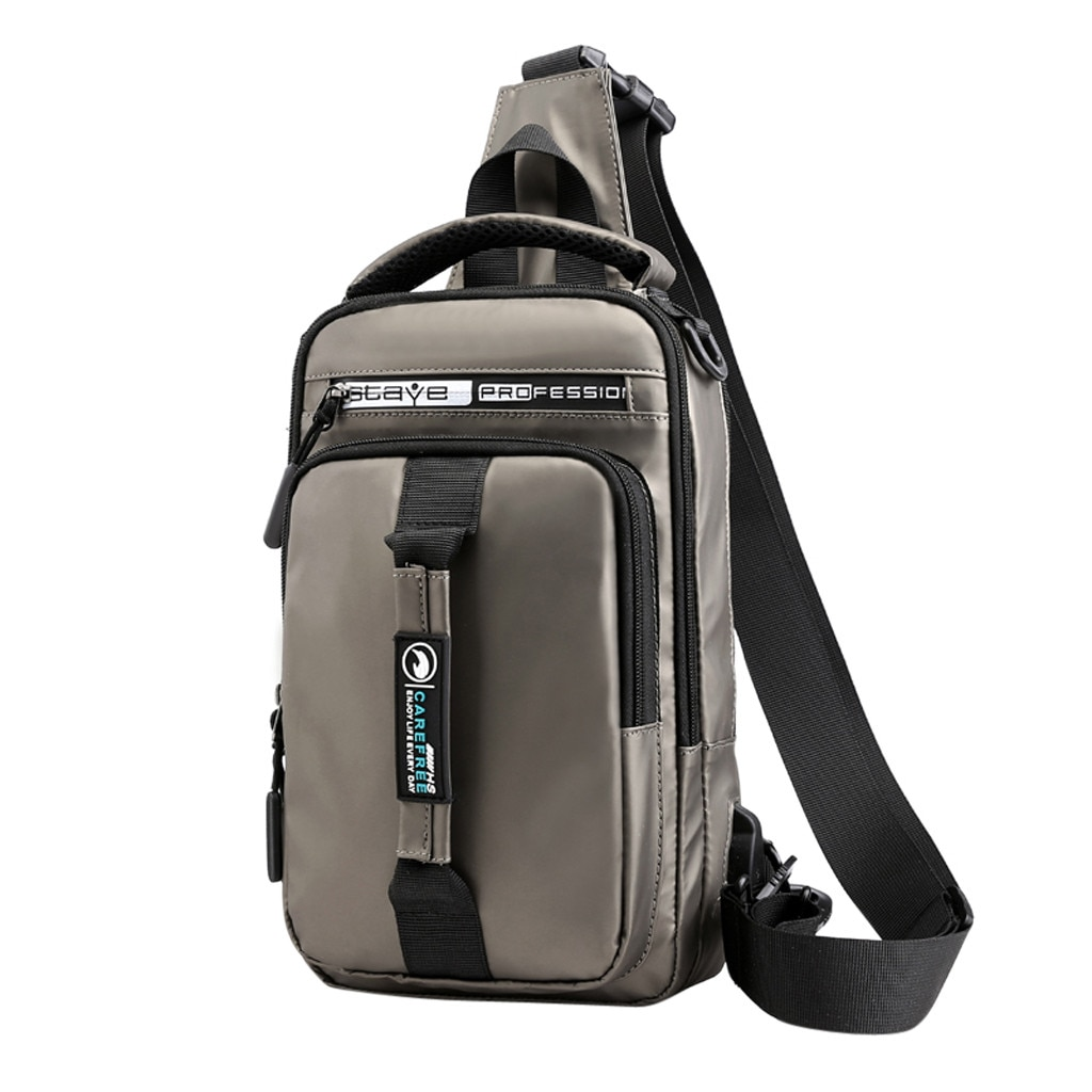 """Mochila Unisex a la moda Oxford impermeable para exteriores mochila multifunción con USB mochila de gran capacidad de Color sólido para el tiempo libre mochila para el tiempo libre, Modelo """"Nikon"""