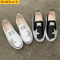 sports womens shoes fall 2021 new soft soles set foot single shoes outdoor casual flat shoes roman national style loafers