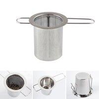 Silver color Reusable Stainless Steel Tea Strainer Infuser Filter Basket Mesh Tea Infuser Filter Herbal Ball Tea tools #734