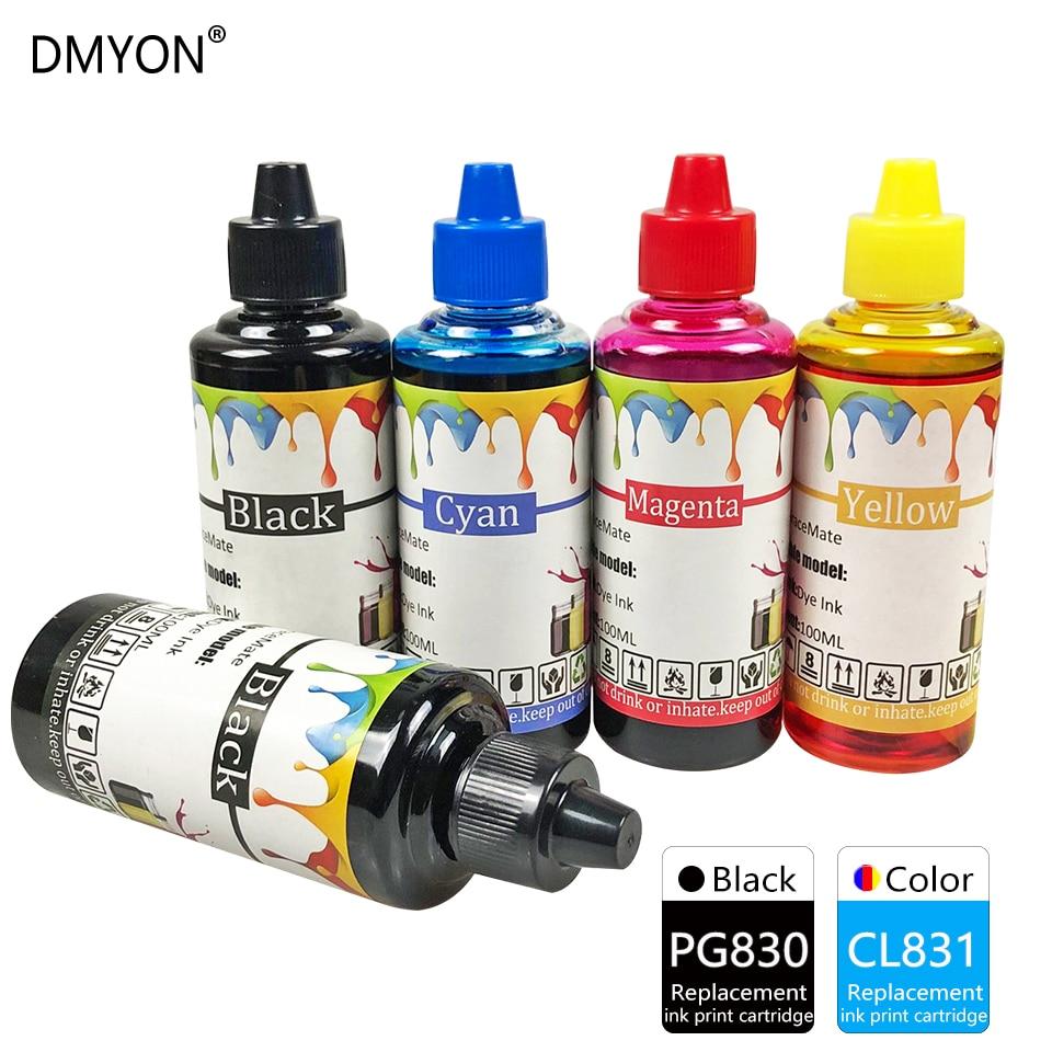 DMYON Tinte Refill-Kit Kompatibel für Canon PG830 CL831 PIXMA iP1180 iP1880 iP2580 iP2680 MP145 MP198 228 476 MX308 MX318 drucker