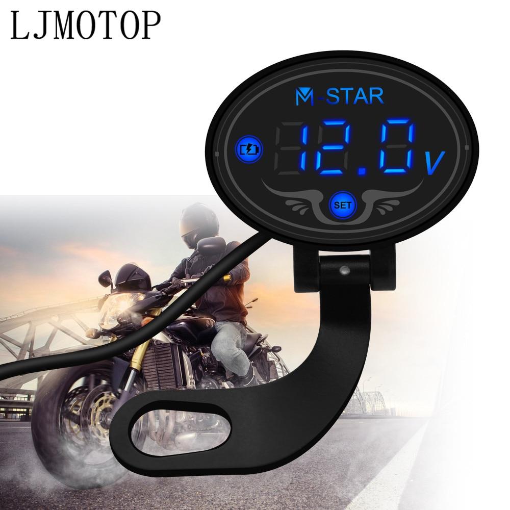 Voltímetro Digital para motocicleta, medidor de voltaje con pantalla Led para YAMAHA XMAX 125/250/300/400, Iron Max NMAX 125 R120, accesorios