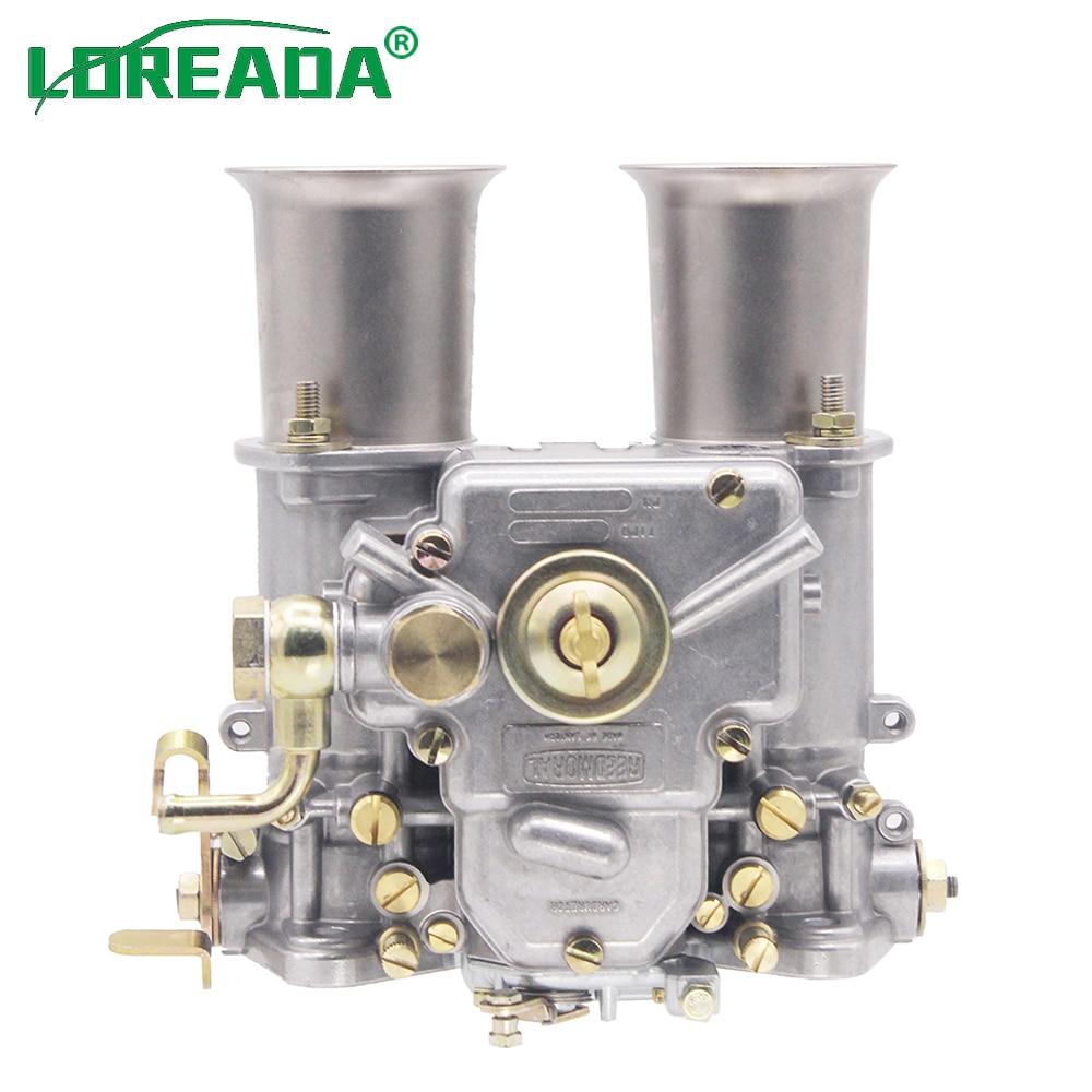 45 DCOE carburador Weber para doble choque 19600.060 4 cyl 6 Cyl o V8 motores 45MM Carb Assy Dellorto Solex 45 DCOE