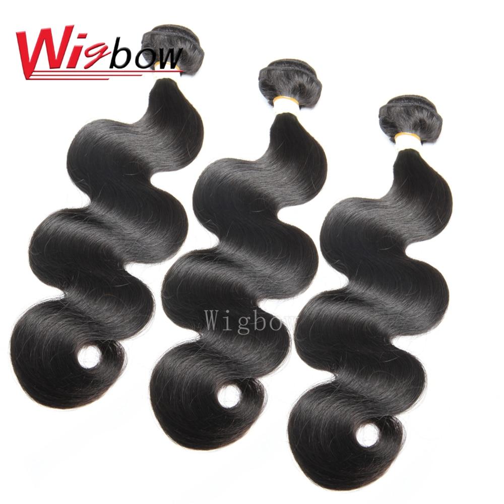 Cabello OneCut Wigbow cabello brasileño onda del cuerpo mechones de cabello extensiones de cabello humano Color natural 8-28 pulgadas P mechones de cabello Remy