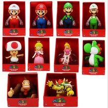 Livraison gratuite 9 pouces japonais anime Super Mario poupée figurine modèle cadeau danniversaire