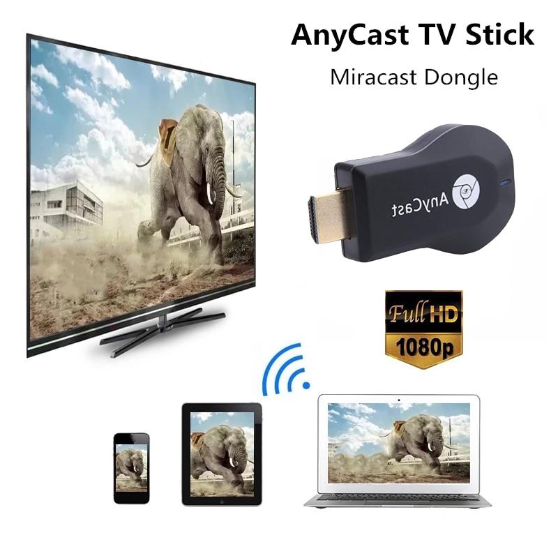 ТВ приемник M2 Plus Anycast Airplay DLNA Miracast, Wi Fi дисплей, адаптер, совместимый с HDMI, для IOS и Android SmartTV-стики и тюнеры      АлиЭкспресс