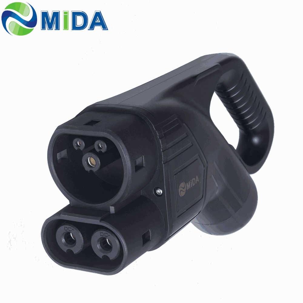 Cargador europeo IEC 62196-3 EV, tipo 2, conector 150Amp DC, Cargador rápido, CCS Combo, 2 enchufes, vehículo eléctrico EVSE, Coche