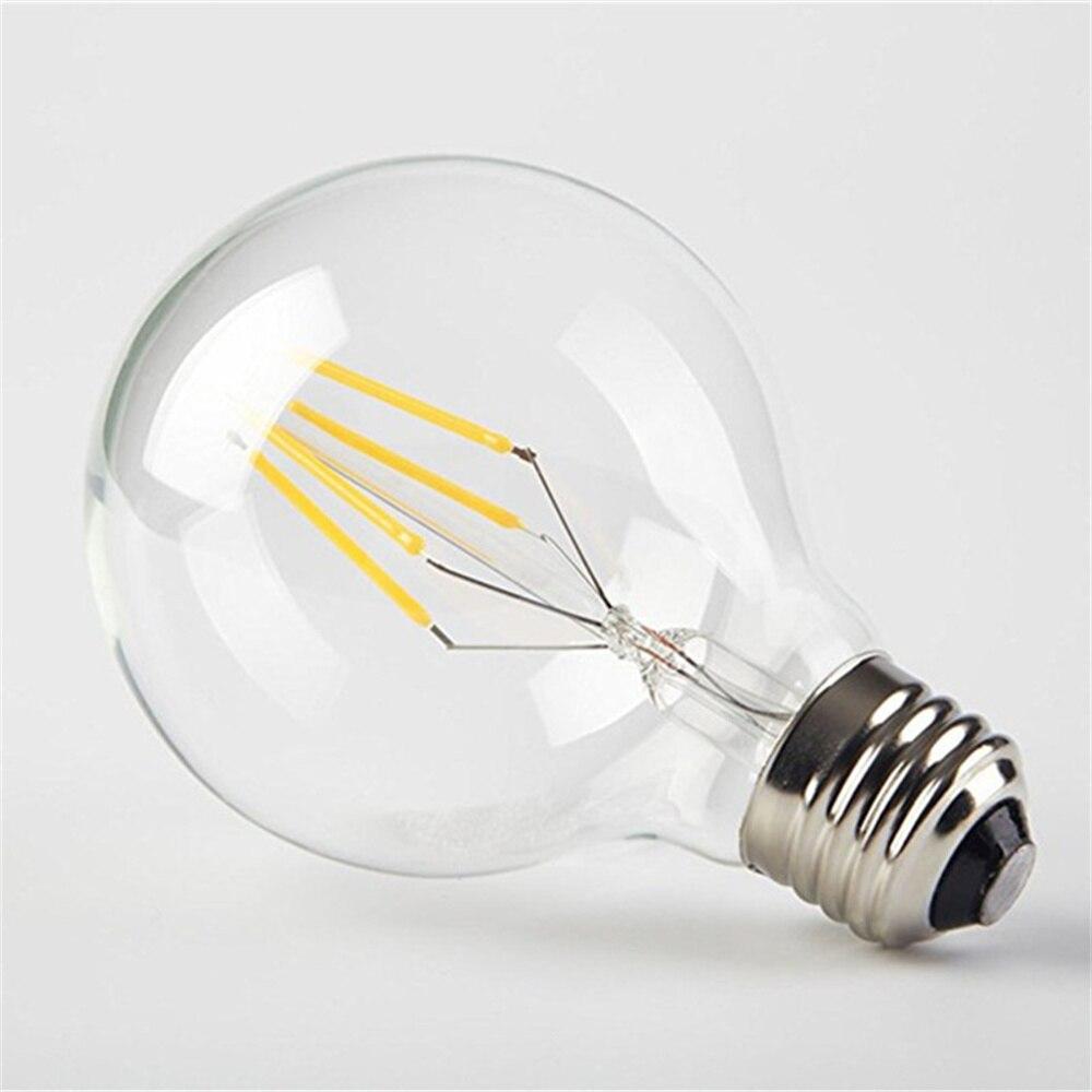 1 шт. G80 4 Вт светодиодсветильник лампа накаливания COB глобальная винтажная Светодиодная лампа Эдисона E27 лм светодиодсветильник лампа накал...