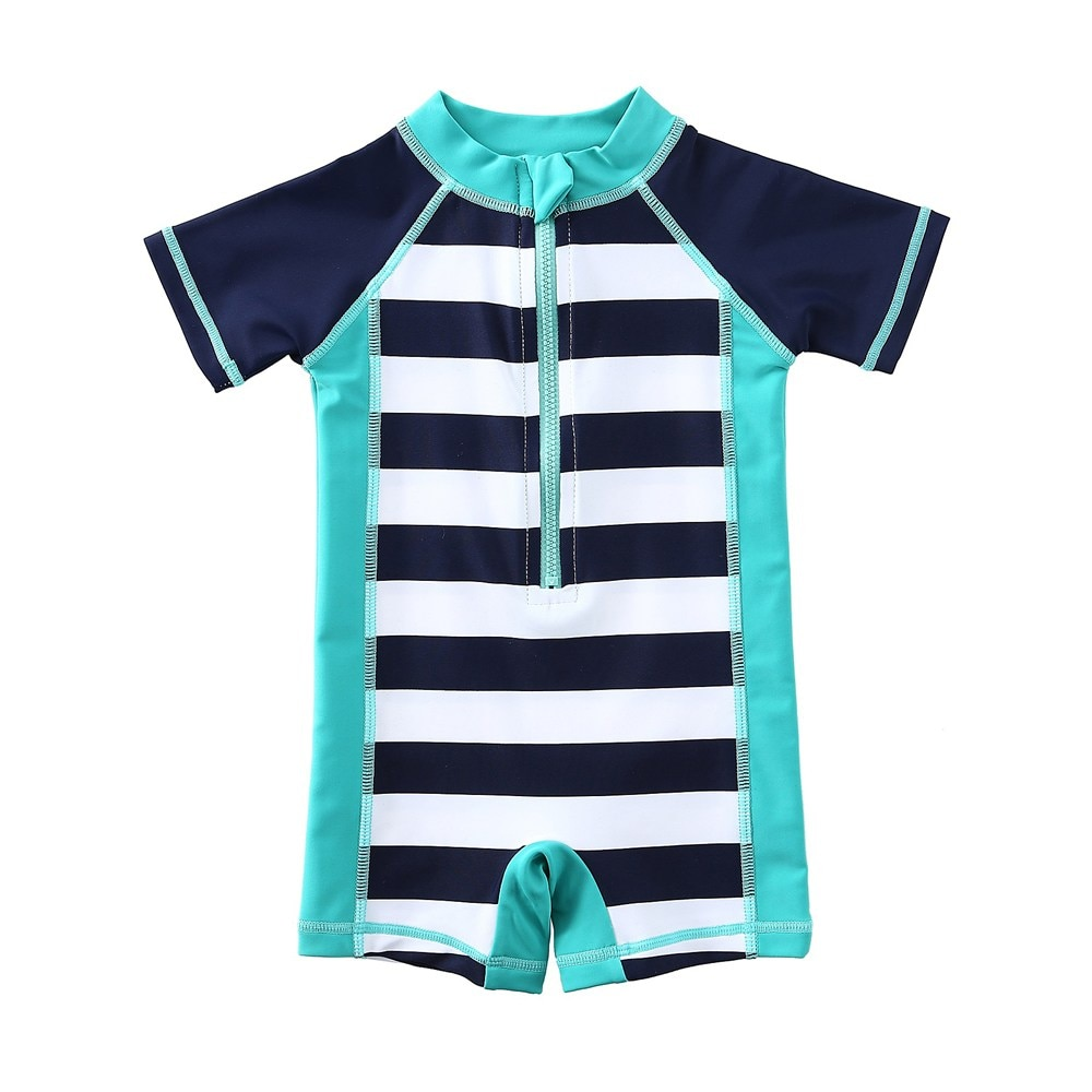 new summer baby swan swimsuit fashion ruffle flamingo kids swimsuit cute baby beach wear with matching hat free shipping yz066 Wishere Swimsuit Striped Infant Beach Swimwear One Piece Baby Boy Swimming Suit With Free Shipping