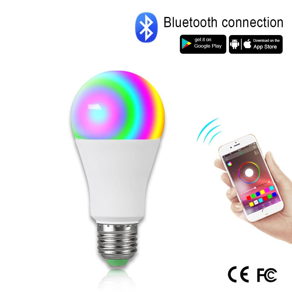 15W RGB Smart Nihgt lámpara E27 B22 lámpara LED con Bluetooth música Control de voz luz nocturna para el hogar interior baño atmósfera LED Bombilla