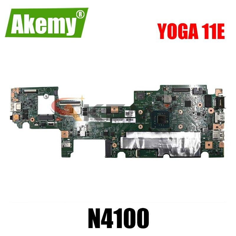 02DC242 لينوفو ثينك باد يوغا 11E سيليرون N4100 دفتر اللوحة الرئيسية 17833-1 متر 448.0dam0001m SR3S0 DDR3 اللوحة الأم للكمبيوتر المحمول
