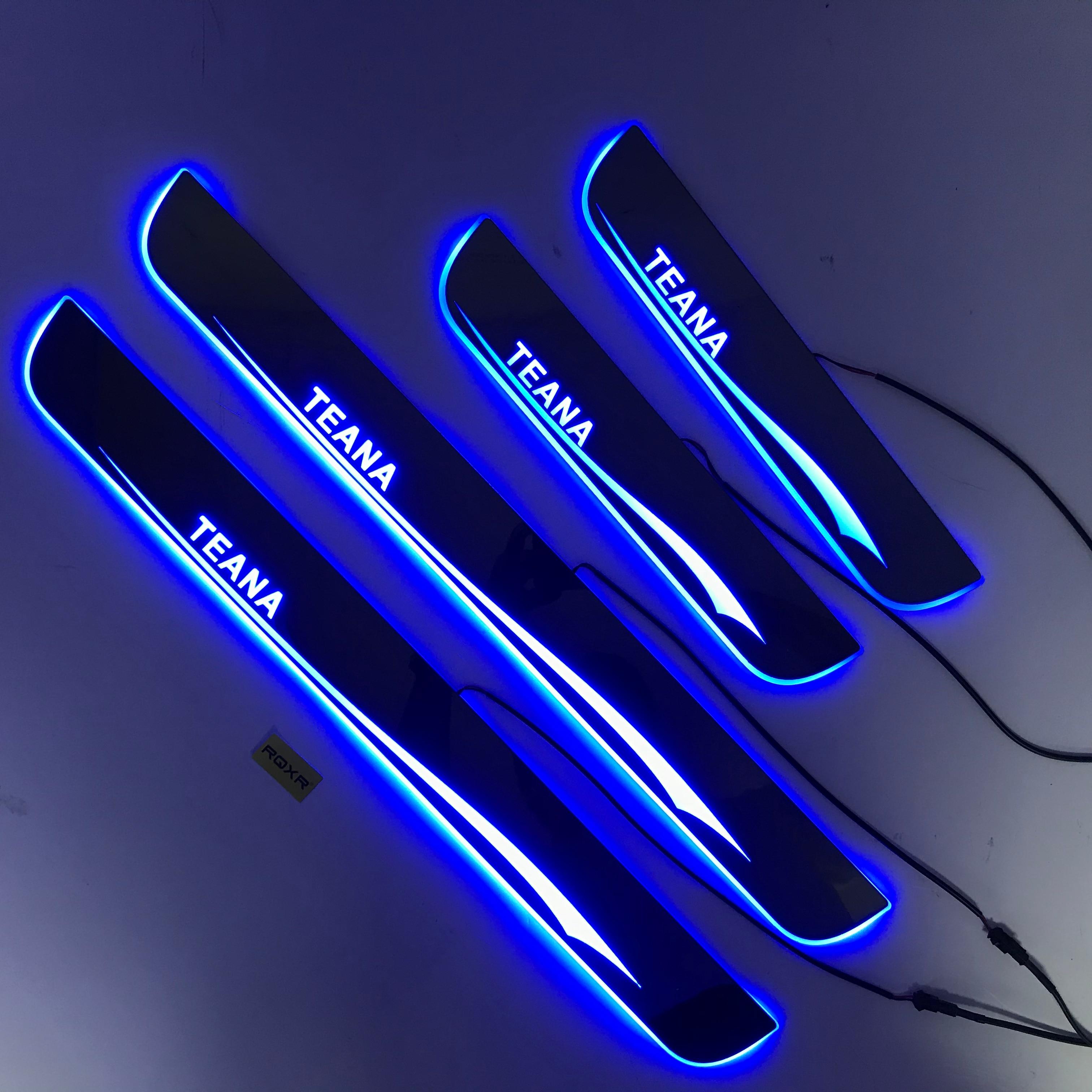 جرجر باب متحرك LED لنيسان Teana L33 عتبة لوحة تراكب بطانات ترحيب دواسة ضوء القوالب