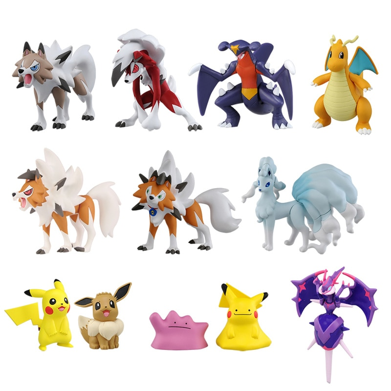 Pokemon ESP Lycanroc Garchomp Dragonite Ninetales Naganadel Tapu Fini Bulu Lele Koko Ditto Pikachu Pokemon Ditto figura de acción