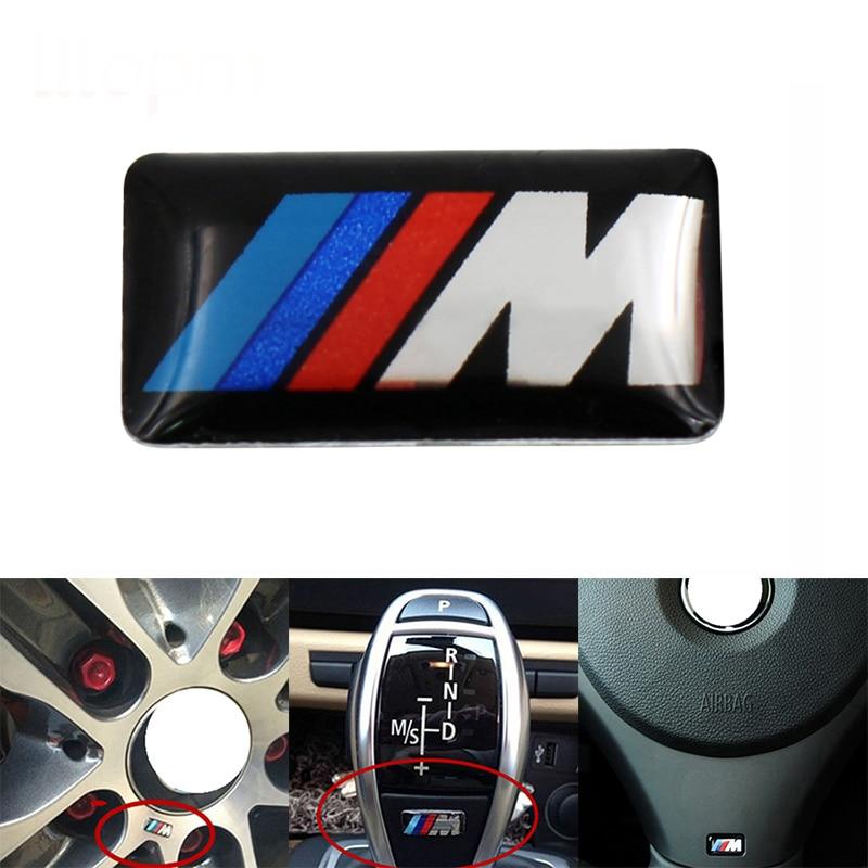1 pçs carro volante adesivo interior do carro adesivo acessórios do carro para bmw m etiqueta x1 x3 x4 x5 x6 x7 e46 e90 f20 e60 e39 f10