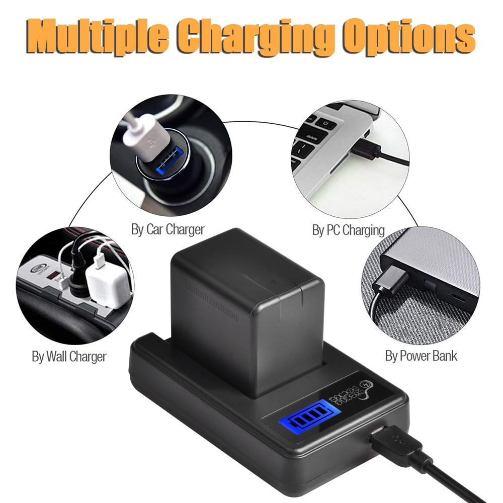 HC-VXF990EB-K Battery Charger for Panasonic HC-VXF990 HC-VXF990EG-K 4k Ultra HD Camcorder