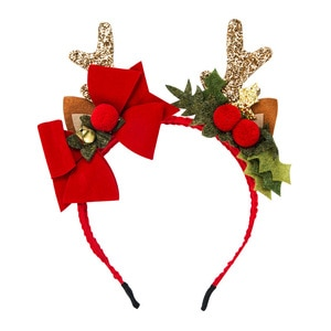 Christmas Headbands For Women Girls Antlers Bow Red Hairbands Fashion Cute Hair Accessories