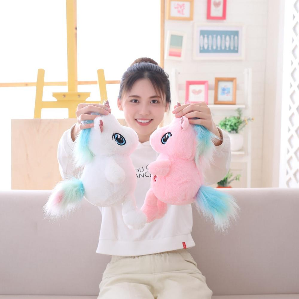 Unicornio red muñeca roja unicornio lindo juguete de peluche pony almohada animal de peluche muñeca de trapo de alta calidad regalos