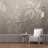 milofi custom large wallpaper mural european style hand painted retro nostalgic tropical rainforest landscape background wall