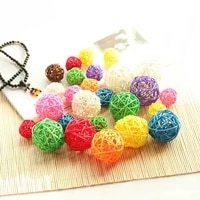 10pcslot 3cm artificial straw ball for birthday party wedding decoration rattan ball christmas decor home ornament supplies