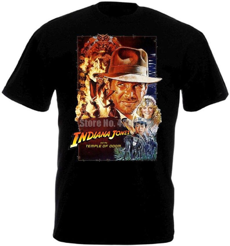 Cartel de película Indiana Jones y The Temple Of Doom, camiseta divertida para hombre, ropa informal estilo hip hop, camiseta con Logo genial, camiseta de marca