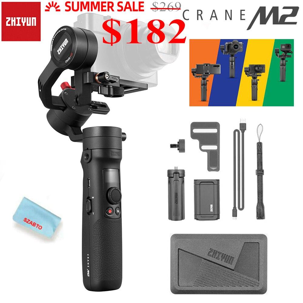 Zhiyun 공식 크레인 M2 미러리스 카메라/스마트 폰/액션 카메라/컴팩트 카메라 용 3 축 핸드 헬드 짐벌 안정기