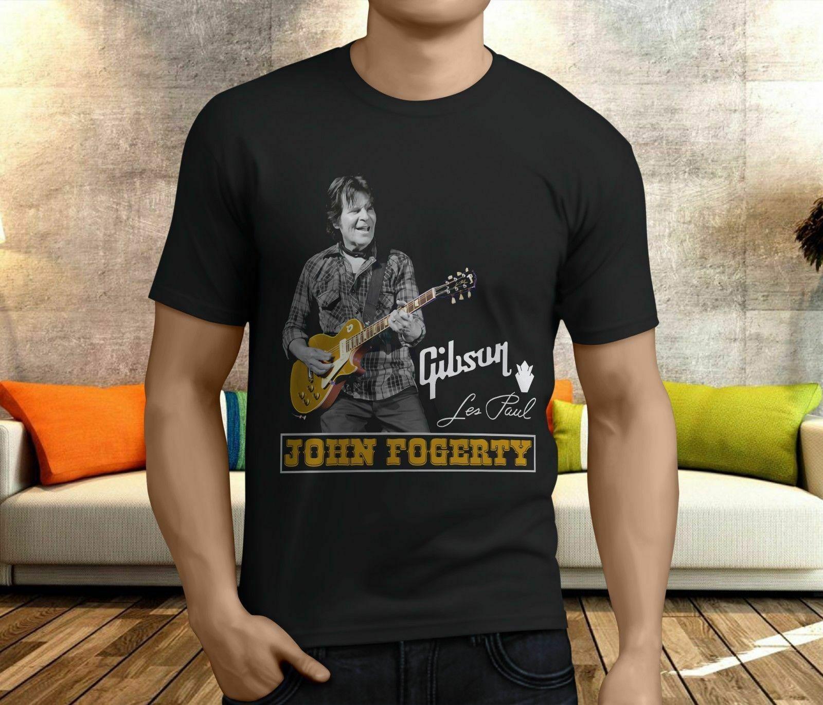 Nuevo John Fogerty Creedence Clearwater, camiseta negra para hombre, talla S, M, L, 234Xl, Kl206
